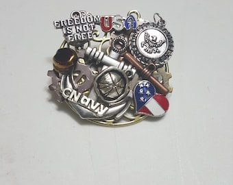 Military (Navy) Steampunk Pin/Brooche