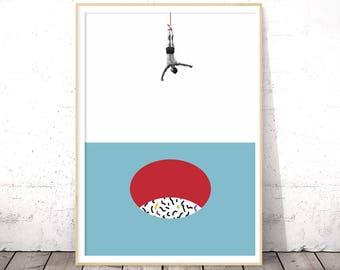 Modern Minimalist Poster, Geometric Art Print, Geometric Wall Art, Geometric Poster, Printable Poster, Modern Printable Art, Large Wall Art