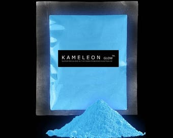 GLOW in the Dark Pigment Powder for Arts, Crafts, Paint, Soap Etc. SKYBLUE!