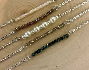 Beaded Bar Necklaces