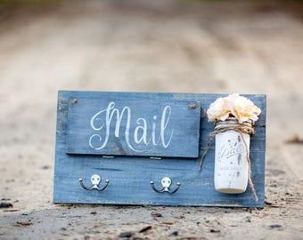 Entry Door Mail Organizer- Gray