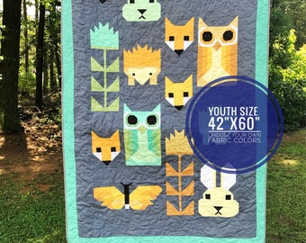Animal Quilt - Baby Quilt - Baby Animals Quilt - Baby Shower Gift - Baby Gender Neutral Gift - Baby Blanket - Custom Colors -  Nature Quilt
