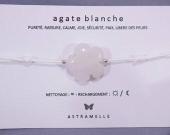 Greed white Agate bracelet