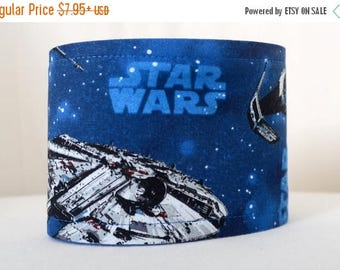 Male Dog belly band - Dog Diaper - Potty training aid - house breaking - Made from blue Star Wars fabric/ships - READY TO SHIP