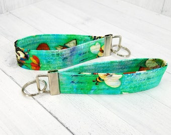 Key Wristlet - Dog Key Fob - Key Ring - Keychain - Woodland creatures - Gift for Teacher, Dog Lover, Dog Mom, Best Friend, Mom, Pet Sitter