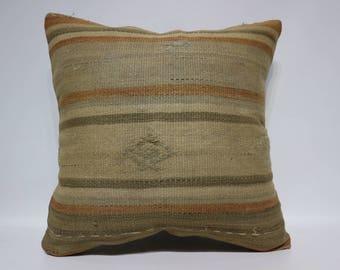 Bohemian Kilim Pillow Throw Pillow Sofa Pillow 24x24 Large Kilim Pillow Ethnic Pillow Home Decor Turkish Kilim Pillow SP6060-1456