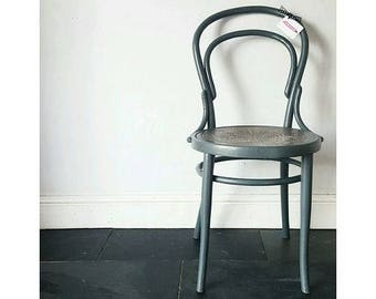 Vintage Farrow & Ball Painted Large Thonet Cafe Bistro Antique Bentwood Chair
