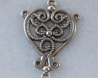 1 connector Chandelier 34x24mm Tibetan silver for pierced ear Earrings