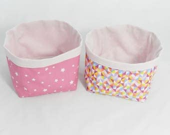 Duo Rose storage baskets