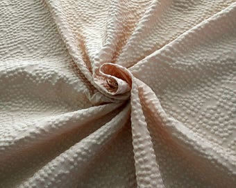 990111-140 JACQUARD-Se 36%, Ce 32%, Pl 21%, Pa 11%, Width 135 cm, made in Italy dry cleaning weight 215 gr