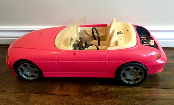 1996 mattel barbie motorized convertible cruisin 39 car pink for Motorized barbie convertible car
