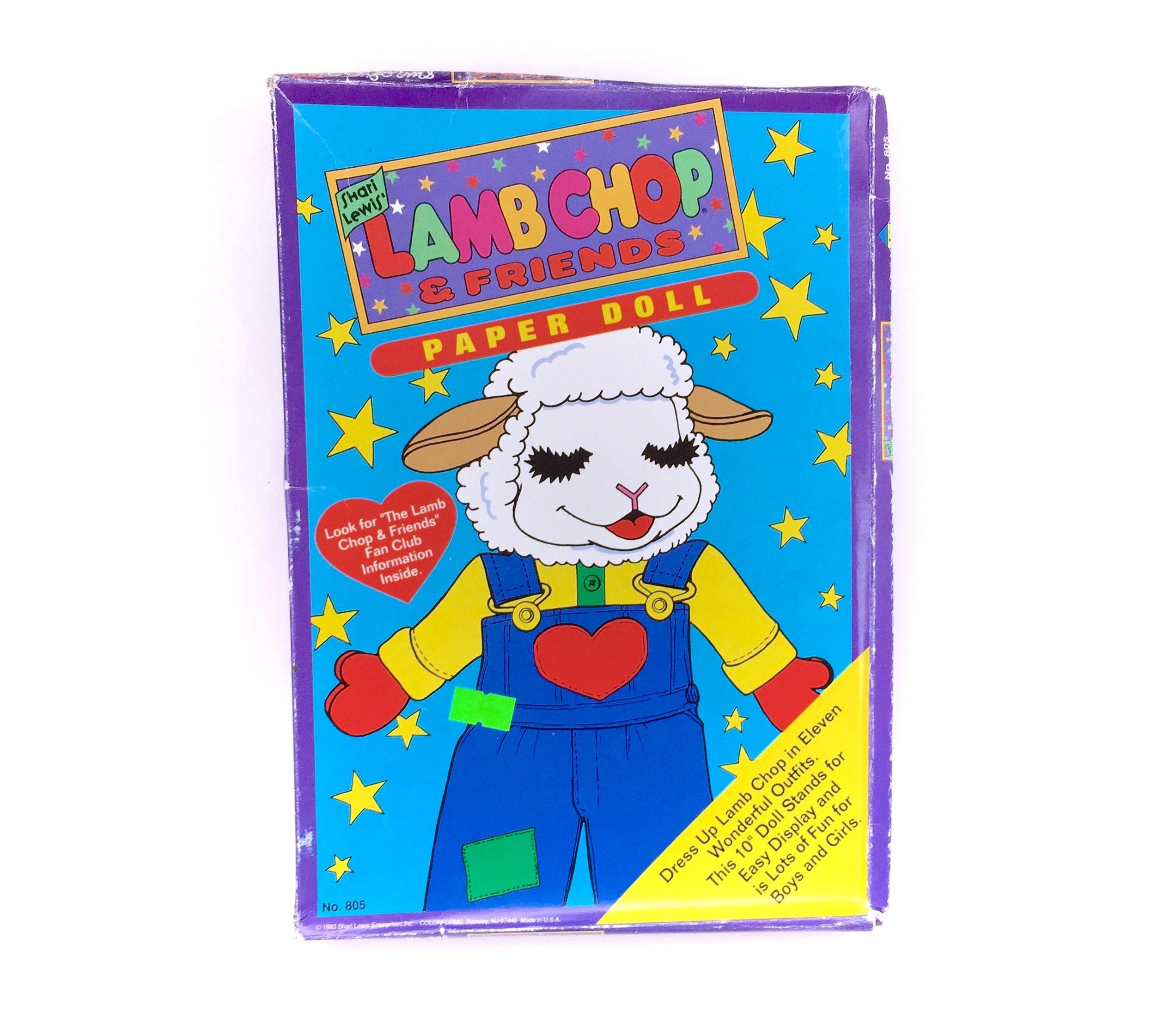 complete vintage lamb chop shari lewis colorforms paper doll