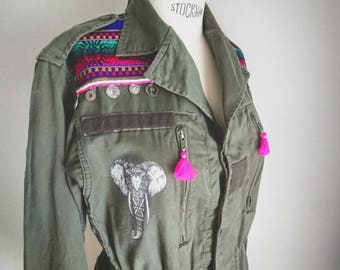 Custom army/military jacket - Indian elephant