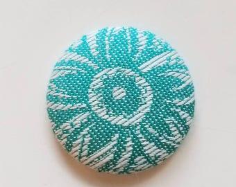 Wrap Scrap Magnet - Large Magnet - Wrap Scrap - Babywearing - BabyMonkey - Mehindi Anise - Flower