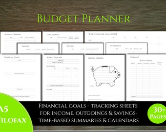 New - A5 Budget Planner - classic style - ideal for filofax