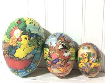 Vintage Set of 3 Nesting Eggs