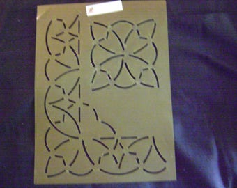 Sashiko Japanese or Traditional Quilting Stencil 7 in. By 9 in. Geometric Block/Background Design