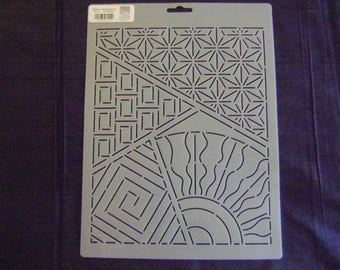 Sashiko Japanese Quilting/Embroidery Stencil 8 in. by 10  in. Sashiko Sampler Motif Block/Quilting