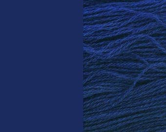 Wool Yarn, rich blue, fingering 2-ply pure wool 8/2 100g/350m