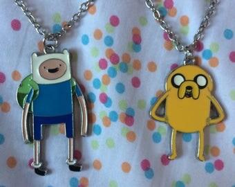 Adventure Time Finn & Jake Necklaces