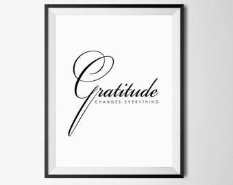 Gratitude Print, Gratitude Quote, Gratitude, Thankful Print, Gratitude Printable, Be Thankful, Gratitude Poster, Thankful Printable, 18x24