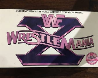 WrestleMania X VHS Video WF