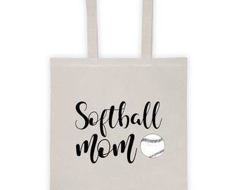 "Tote Bag ""Softball Mom"""