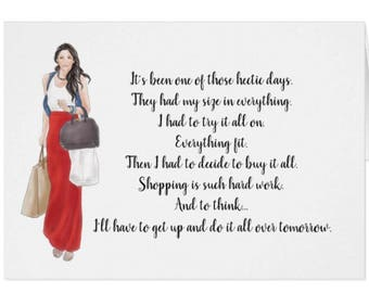 Funny Greeting Card for the Girl Who Loves To Shop