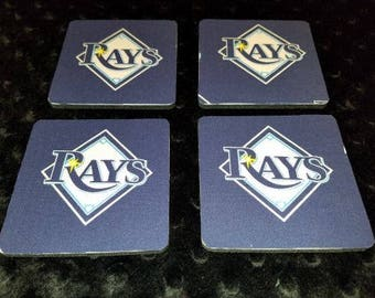 Tampa Bay Rays 4 Piece Coasters