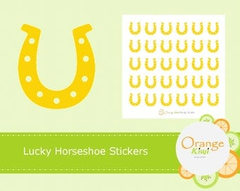 Horseshoe Planner Stickers, Lucky Horseshoe Stickers