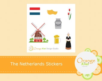 The Netherlands Stickers, Travel Stickers, Sampler Stickers, Planner Stickers