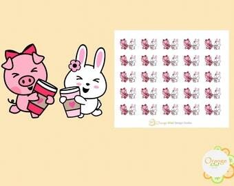 Coffee Date Stickers, Best Friends Stickers, Coffee Stickers, Planner Stickers, Erin Condren Life Planner