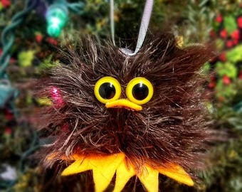 Owl Handmade Felted Christmas Tree Ornament, Christmas Decor, Gift or Stocking Stuffer - Ready to Ship