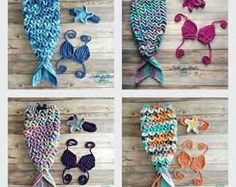 Crochet Mermaid tail, Design your own, Mermaid photo prop, Baby girl costume, Mermaid outfit, Baby photo prop, Baby mermaid tail