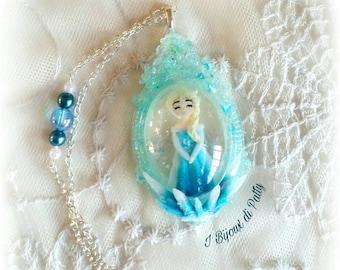 Collana con cammeo Elsa - Frozen