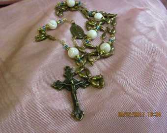 Brass and Mother of Pearl Rosary