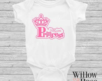 Daddy's Little Princess Baby Onesie In Sizes 0000-1