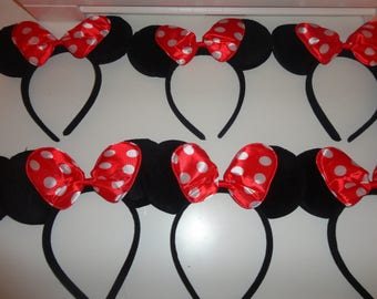 Minnie mouse and Mickey mouse ears