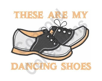 Dancing Shoes - Machine Embroidery Design, Shoes, Dancing