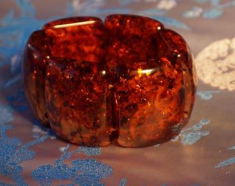 Amber bracelet, massive amber bracelet