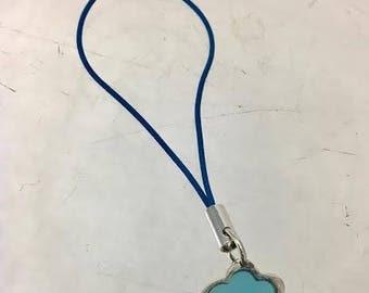 Cunill Small Blue Cloud Sterling Purse Zipper Toggle