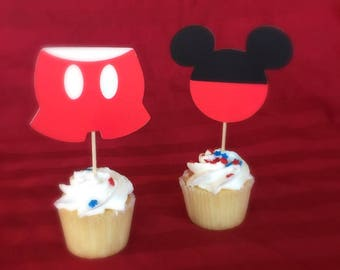 Mickey Mouse Cupcake Topper (2 opt)