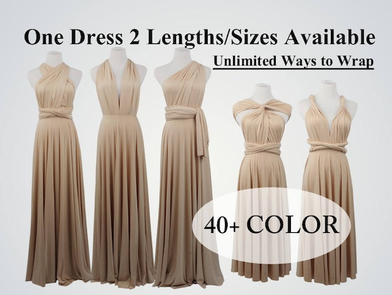 Beige Infinity Dress Champagne Bridesmaid Dress Prom Dress