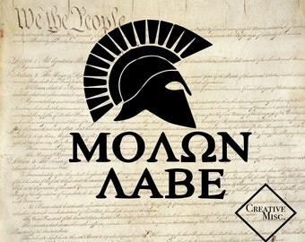 Molon Labe decal - Molon Labe car decal - Molon Labe Yeti decal - Molon Labe computer decal