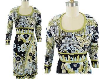 70s Paganne Paris Print Dress