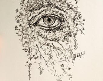 Garden | Pen and Ink Drawing | Original Art