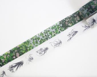 Flower Garden Washi Tape, Masking Tape, Planner Stickers - WT382