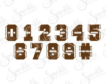 Football Numbers, Football, Football SVG, Football Mom, Football Jersey, Clipart Svg Dxf Eps Png Silhouette Cricut Cut File Commercial Use