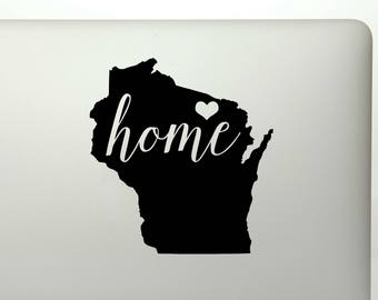Wisconsin Home Decal Etsy - Custom vinyl decals madison wi
