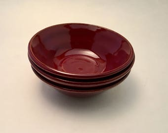 Red Small Bowl Set